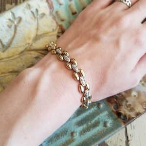Jewelry - Gold and Sterling Silver Bracelet
